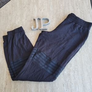 Beyond Yoga sheer stripes Fitted ankle jogger super soft Size small